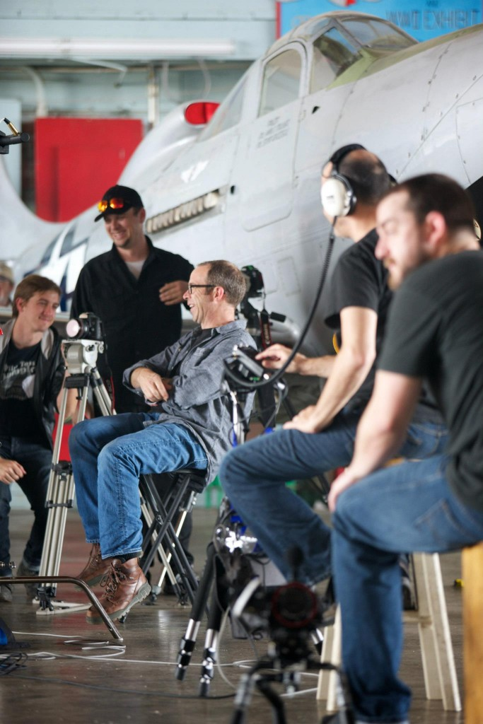 Lee and crew on set of The Yellow Rose Film Project.